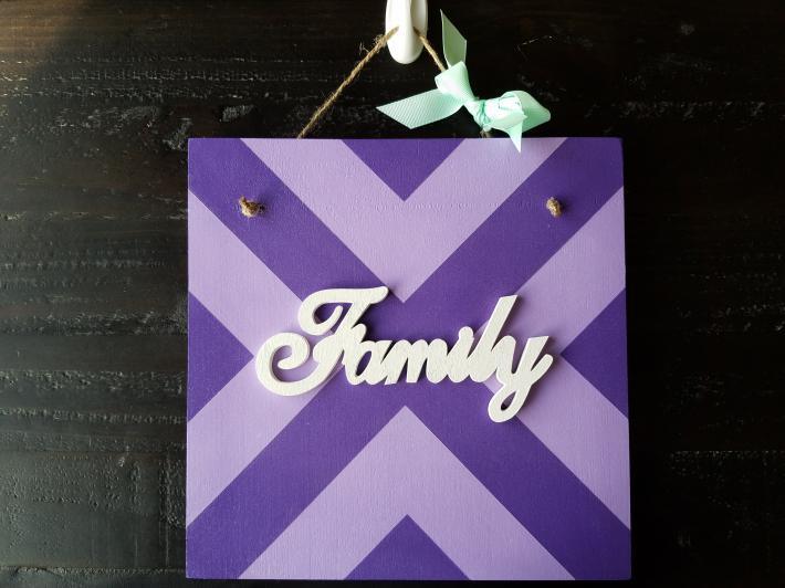 Family Front Door Sign