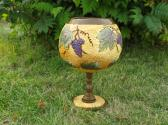 GOURD CHALICE WITH GRAPES AND LEAVES