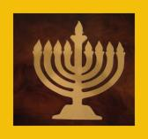 Unfinished Hanukkah Menorah Mosaic Base Craft Shape Thick 10 Inches Tall