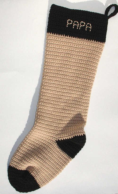 Simple Crochet Stocking Pattern