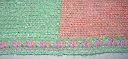Colorblock Baby Blanket Pattern