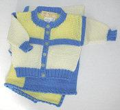 Colorblock Baby Cardigan Pattern