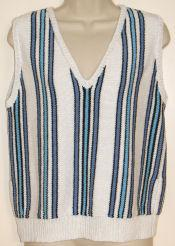 Sideways Stripe Vest or Shell Pattern