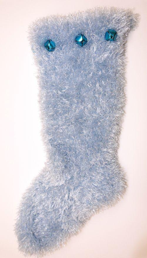 Faux Fur Christmas Stocking in giant size