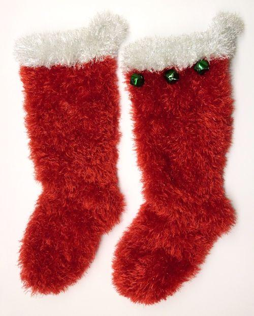 Faux Fur Christmas Stocking in large size