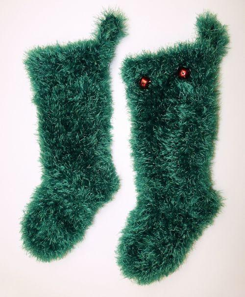 Faux Fur Christmas Stocking in small size