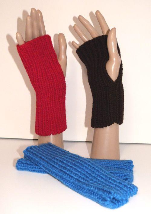 Knitted Fingerless Mittens