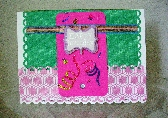 Happy Birthday Card in Pink and Green  11PI109