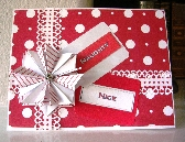 Naughty or Nice Red and White Origami Star Christmas Card 11PI918