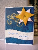 Do You See What I See Origami Star Christmas Card    11PI916