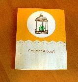 Handmade Get Well Card   Caught a Bug   11PI128