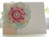 Handmade Embossed Happy Birthday Card with Die Cut Flower  12P010