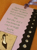 Bookmark Ginger Rogers and High Heels Over Page Magnetic Book Mark  12P014A