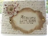 Love Greeting Card    Distressed Die Cut Card  12P020