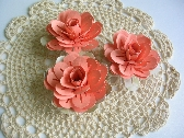 Handmade Paper Flowers 3 Dimensional   Set of 3  12P031A