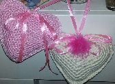Crocheted Hearts Scented