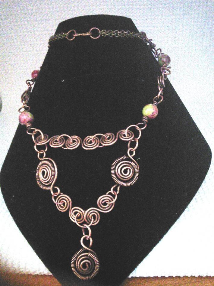 Unique wire wrapped necklace
