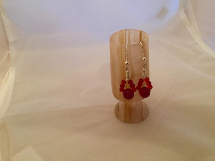Scarlet dangling earrings