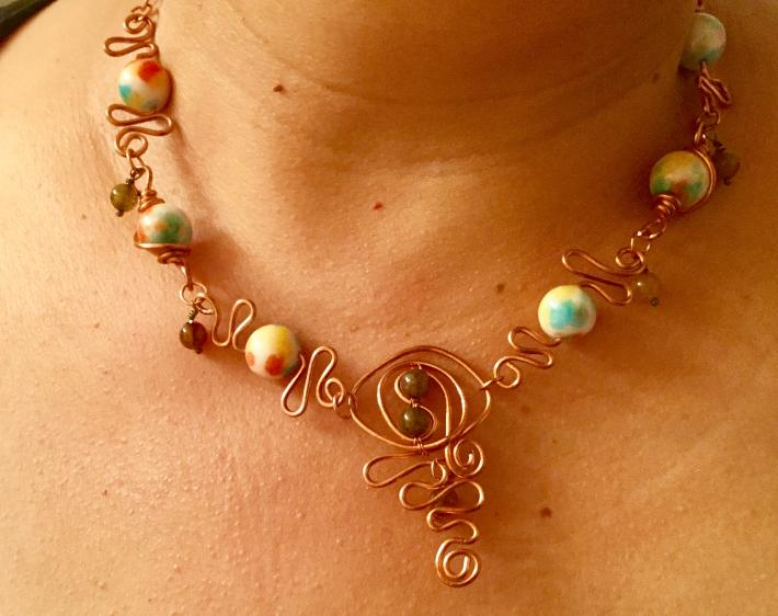 Fancy wave necklace