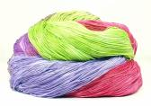 300 Yards Hand Dyed 3 Ply Size 10 Crochet Thread in Purple Lavender Spring Green Pink and Rose Hand Painted Cotton Fine Yarn