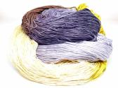 300 Yards Hand Dyed 3 Ply Size 10 Crochet Thread in Yellow Tan Brown Purple and Lavender Hand Painted Cotton Fine Yarn