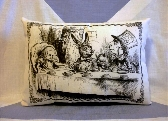 Alice In Wonderland Pillow Cushion Mad Hatter Tea Party