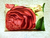 Botanical Vintage Style Cushion Pillow Rose