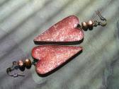 Big Bold Statement Red Heart Handmade Earrings