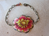 Tin Flower Bracelet Free Form