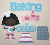 African American Baking Girl Die Cut Set