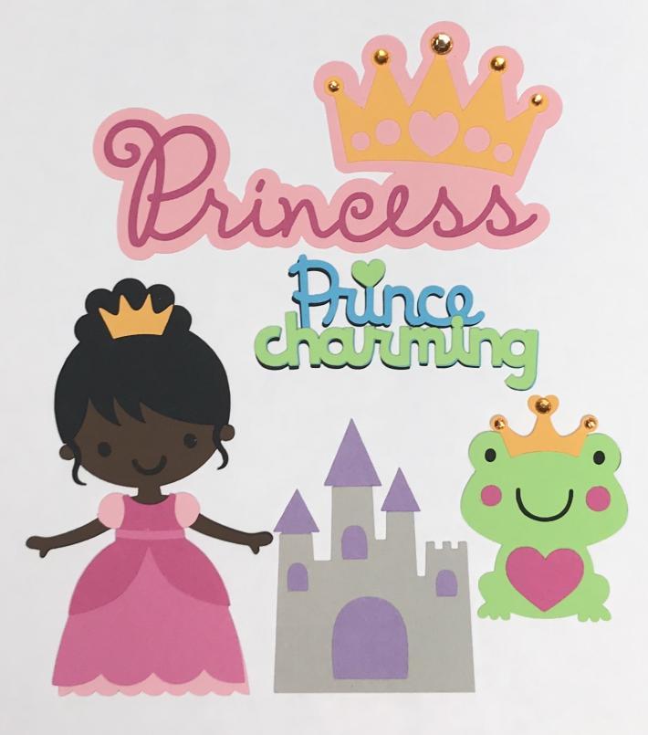 African American Princess Scrapbook Die Cut Set