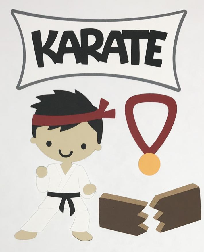 Karate Scrapbook Die Cut Set