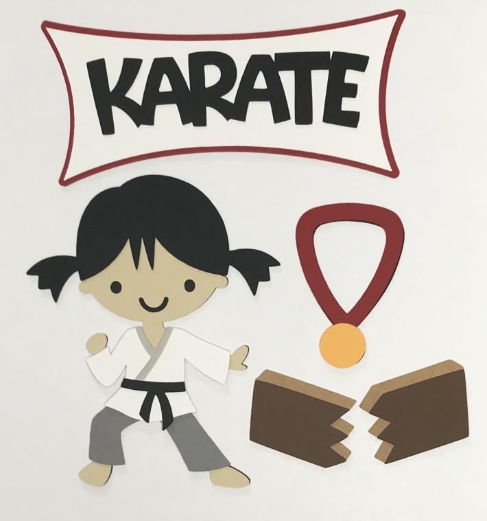 Karate Girl Scrapbook Die Cuts Set