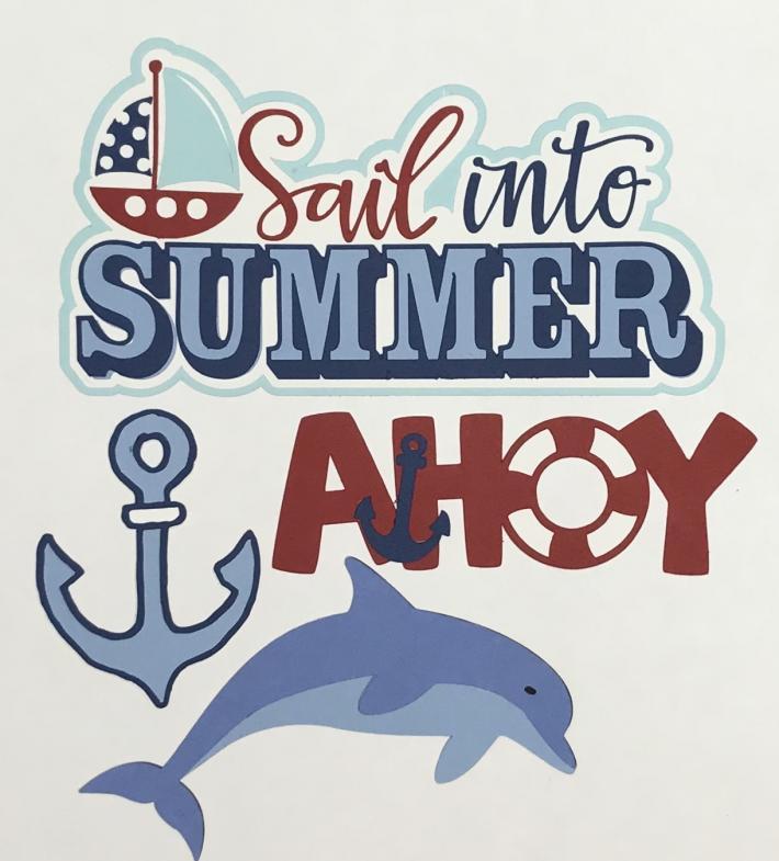 Sail into Summer Scrapbook Die Cut Set