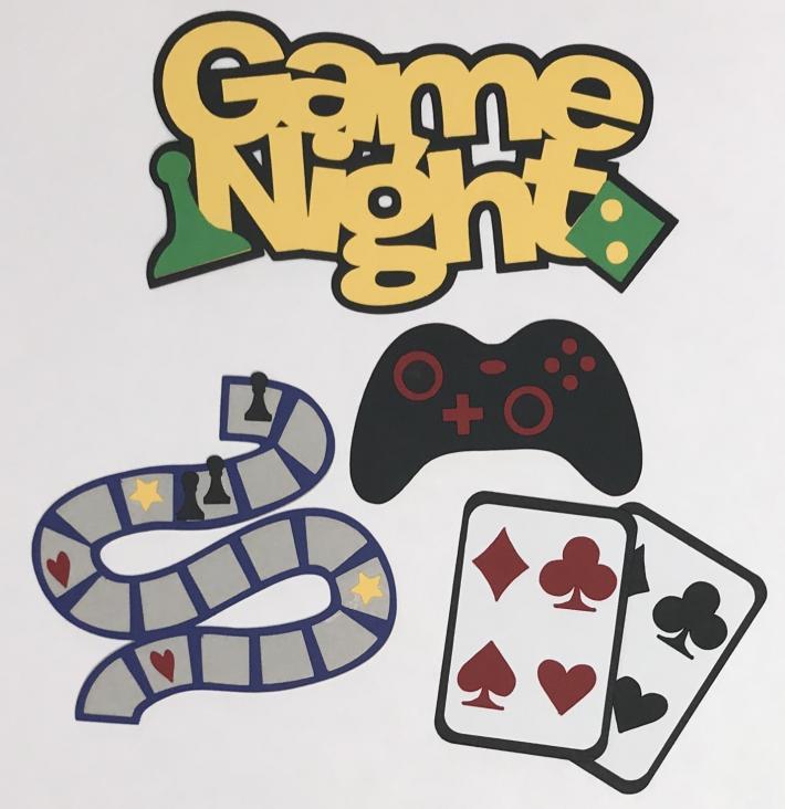 Game Night Scrapbook Die Cut Set