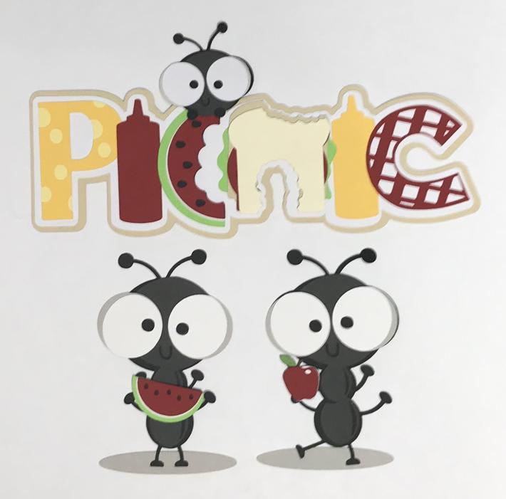 Picnic with Ants Scrapbook Die Cut Set