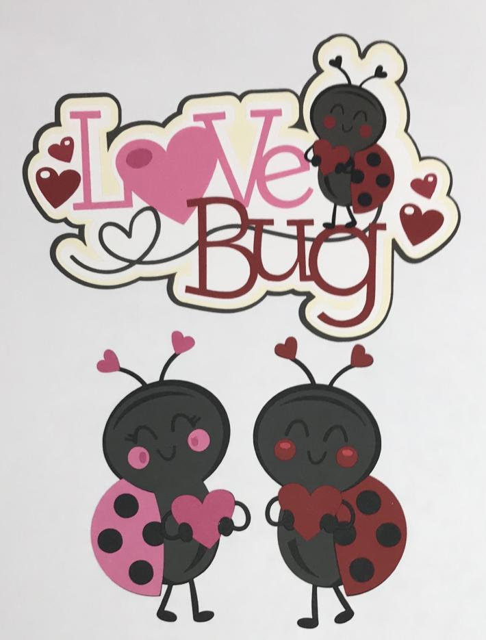 Love Bug and Lady Bugs Scrapbook Die Cut Set