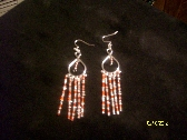 Red and Clear Beaded