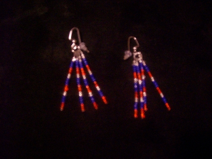 4th of July Beaded Earrings
