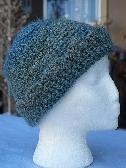 Womens Handmade Winter Hat Hand Crocheted Cap Regency Green ch0110