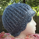 Soft Blue Roaring 20s Style Cloche Hand Crocheted ch0107