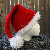 Adult Santa Hat Hand Crocheted