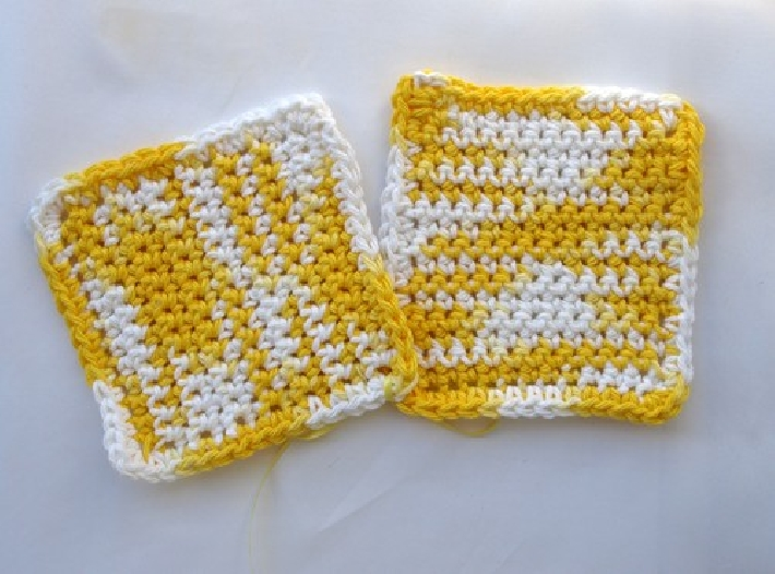Hand Crocheted Dish Wash Clothes Pair