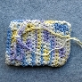 Crocheted Cotton Wristlet Drawstring Pouch