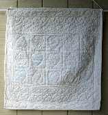 Romantic Vintage Inspired White Quilted  Wall Hanging qwh001