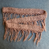 Hand Crocheted Sassy Pink Super Skinny Scarf cs004
