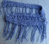 Soft Lilac Hand Crochet Super Skinny Scarf cs005