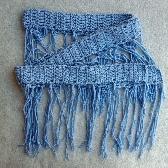 Soft Blue  Hand Crochet Skinny Scarf or Sash cs006