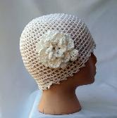 Wedding White Cotton Juliet Cap lh0116