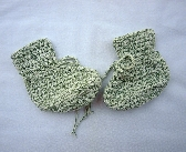 Hand Made Cotton Baby Booties cb030